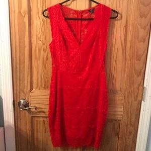 Guess red lace dress!